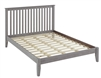 Camaflexi Mission Style Queen Size Platform Bed - Weathered Grey Finish