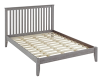 Shaker Style Mission Queen Size Platform Bed - Weathered Grey Finish