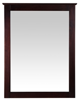 Camaflexi Shaker Style Mirror for 6 Drawer Dresser - Cappuccino Finish