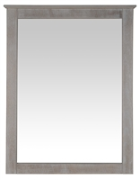 Camaflexi Shaker Style Mirror for 6 Drawer Dresser - Weathered White Finish