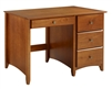 Camaflexi Shaker Style Writing Desk - 4 Drawers - Cherry Finish