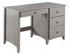 Camaflexi Shaker Style Writing Desk - 4 Drawers - Weathered Grey Finish