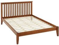 Mission Style King Size Platform Bed - Cherry Finish