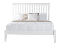 Mission Style King Size Platform Bed - White Finish