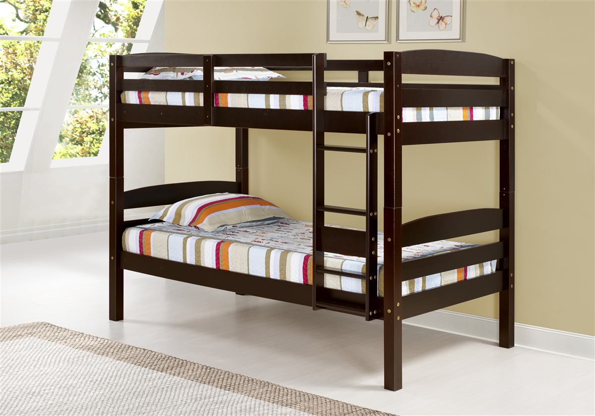 Tribeca Bunk Bed Twin Over Twin Cappuccino Finish