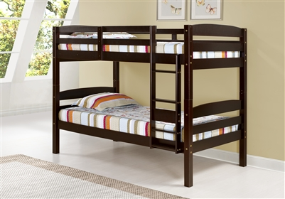 Concord Bunk Bed Twin over Twin - Cappuccino Finish