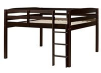 Concord Full Size Junior Loft Bed - Cappuccino Finish