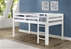 Concord Twin Size Junior Loft Bed - White Finish