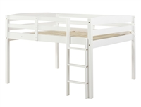 Concord Full Size Junior Loft Bed - White Finish