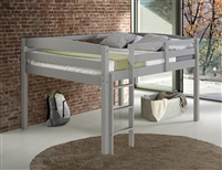 Concord Twin Size Junior Loft Bed - Grey Finish
