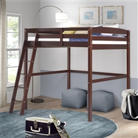 Tribeca Twin High Loft Bed Cappuccino