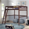Concord Full Size High Loft Bed - Cappuccino Finish