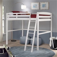 Tribeca Twin High Loft Bed White