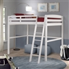 Concord Full Size High Loft Bed - White Finish