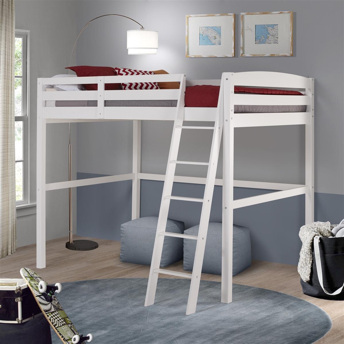 Tribeca Full Size High Loft Bed White