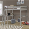 Concord Twin High Loft Bed with Desk Grey
