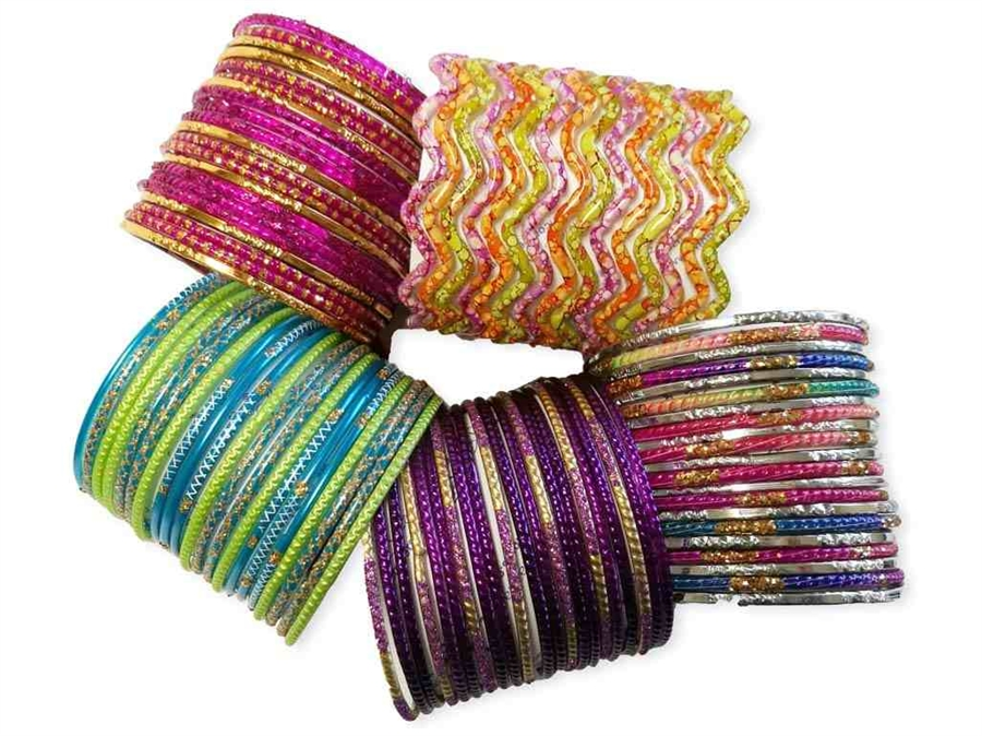 jewellery bangle thread set id bangles silk at proddetail rs