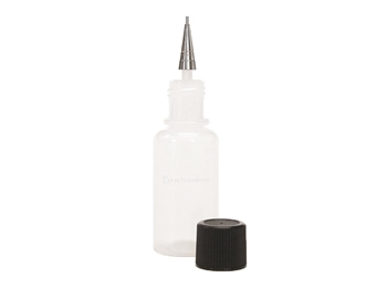 Jacquard bottle henna applicator bottles in both 1/2 oz and 1 ounce sizes.  All 3 sizes jaq metal tips for applying henna paste for henna tattoos.