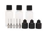 ORa AF LIGHT Henna Jagua Tattoo Precision Applicator Bottle Kit: 3 Anti-Fatigue Bottles & 5 ORa Stainless Steel Tips