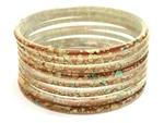 Thick Brown Indian GLASS Bracelets Build-A-Bangle XL 2.12