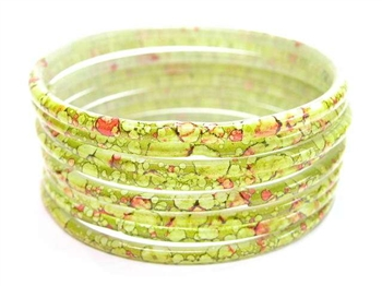 Thick Olive Green Indian GLASS Bracelets Build-A-Bangle XL 2.12