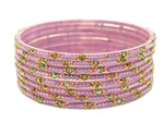 Lavender purple glass bangles from our Prism Collection.