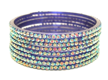Royal blue glass bangles from our Prism Collection.