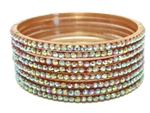 Brown glass bangles from our Prism Collection.