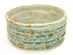 Thick Sky Turquoise Blue Indian GLASS Bracelets Build-A-Bangle XL 2.12