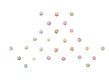 Teeny tiny pearls surrounded by colorful micro beads.