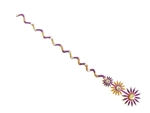 Vivid purple tikka with gold and crystal accents in a star burst style.