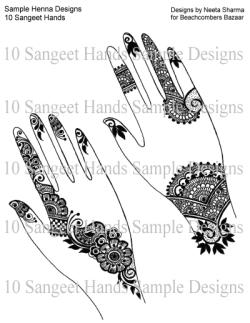 Ten Sangeet Henna Hands Ebook By Neeta Sharma 10 Designs