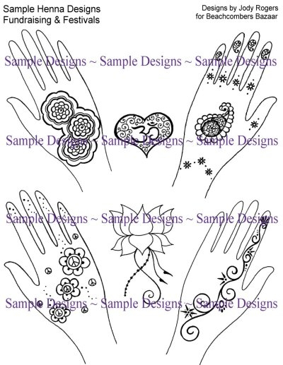 Go Pro Henna Ebook Pack Henna Info Designs For The Budding Professional Artist 133 Designs