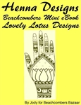 Beautiful henna designs inspired by lotus flowers in this mehndi design ebook.