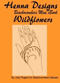 Beautiful henna designs inspired by wild flowers in this mehndi design ebook.