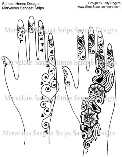 Marvelous Sangeet Strips Henna Ebook Mehndi Party Festival Designs 27 Designs