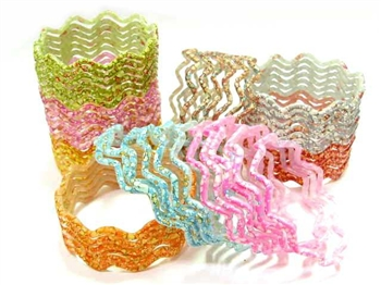 Zig Zag Bangle Kit 54 Glass Indian Bollywood Belly Dance Bracelets