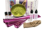 The biggest baddest henna tattoo kit around for beginners! All the henna products, tools, and accessories needed to do your own henna tattoos along with fresh high quality henna powder and paste.