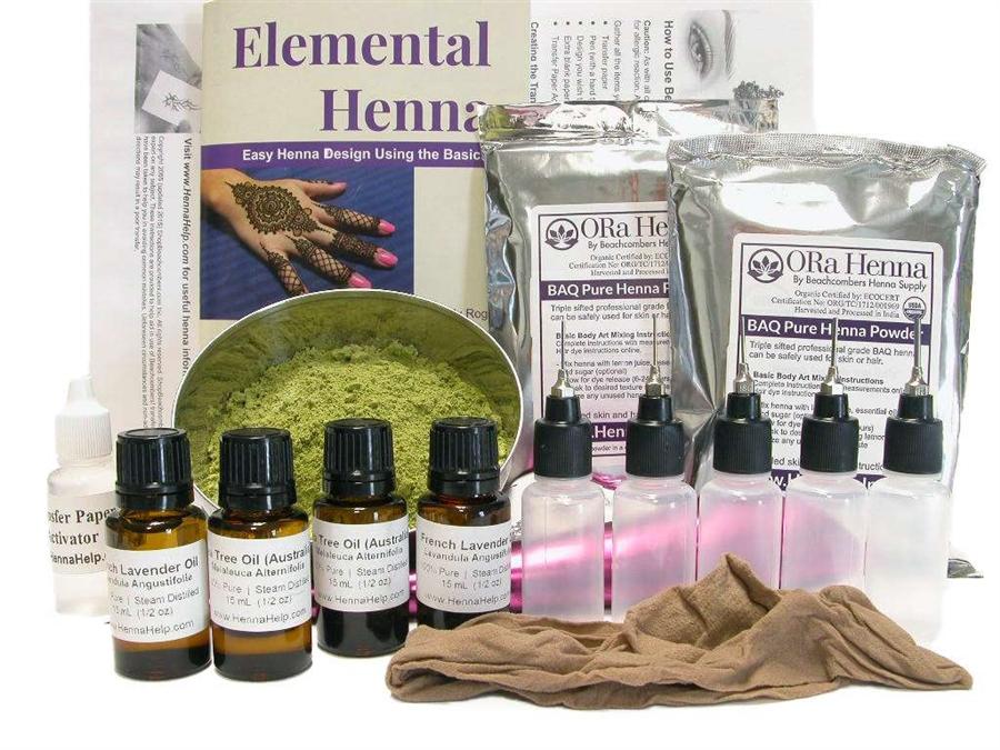 Professional Salon Spa Henna Tattoo Kit: Start Your Own Henna Business