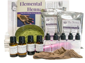 Everything you need to get started with your henna tattoo business. This kit is specially designed to give you all the henna basics you need, while not making a large investment.