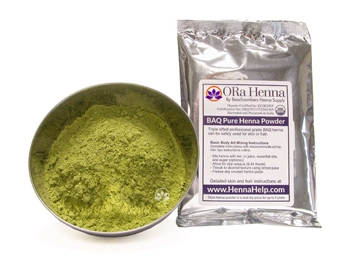 Crazy high lawsone content for extra dark henna stains! ORa henna is a professional grade henna powder with a great stringy texture and extra dark henna stains.