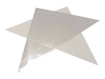Optional Add On: 25 Cellophane Mylar Triangles For Rolling Henna Cones Medium Size