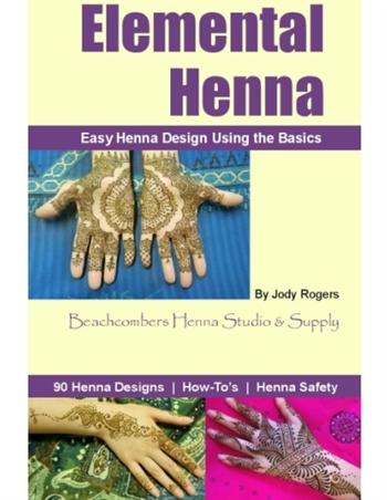 Beachcombers henna design book with henna instructions and mehndi tattoo designs.
