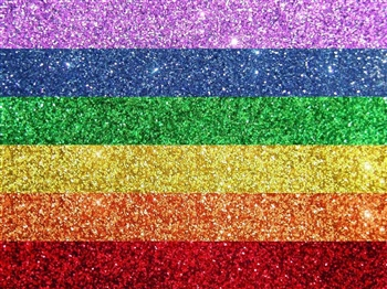Pride rainbow super fine cosmetic grade body glitter for henna paste.