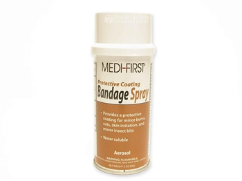 Spray bandage sealer for sealing henna tattoos to keep henna paste from drying to quickly.
