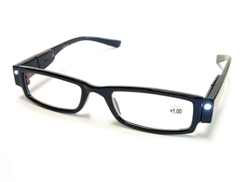 ORa Henna Specs are lighted reading glasses with slight magnification.