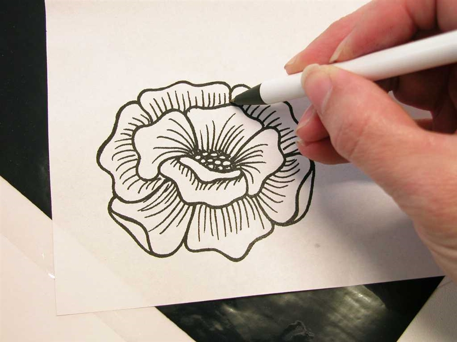 Easy Mehndi Patterns On Paper : Henna tattoo transfer tracing paper w activator