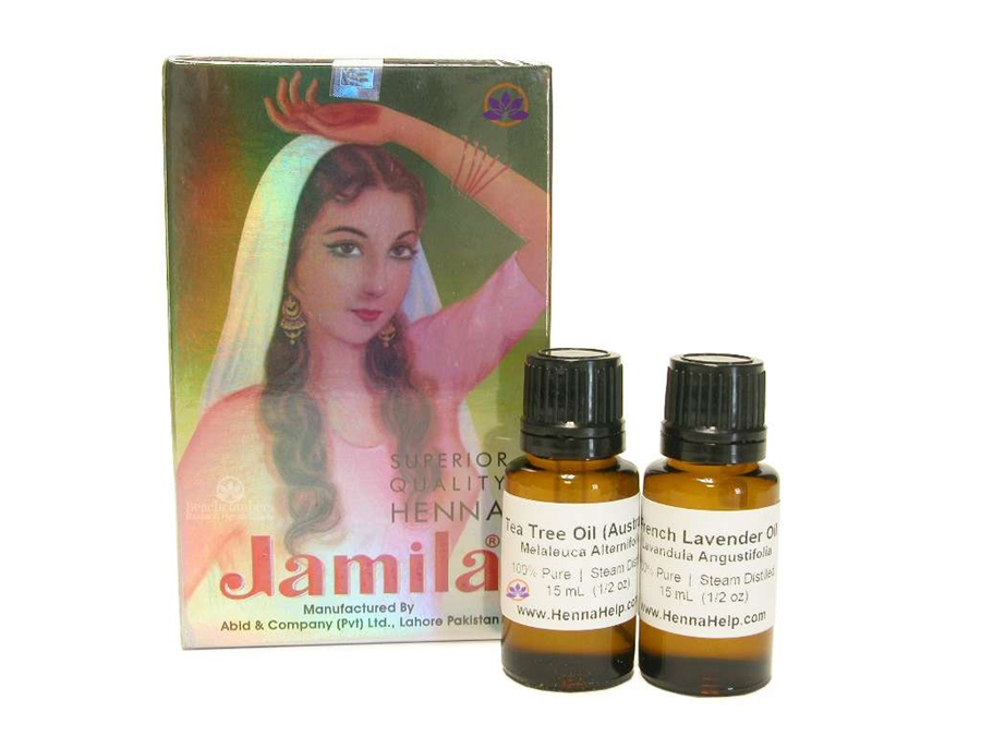 f45efdc4a9bbe Discounted combo pack of Jamila henna powder and essential oils. Mehndi  oils are high quality
