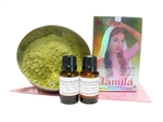 This discounted henna refill kit gives you all the henna product you need for 200 quality henna tattoos.  Professional quality dark staining henna powder, tea tree oil, lavender oil, and cello triangles to roll henna cones in one discounted kit.