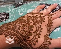 Learn how to create Sangeet strip henna designs.